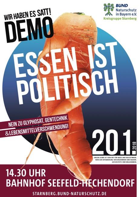 Demo Plakat Essen ist politisch