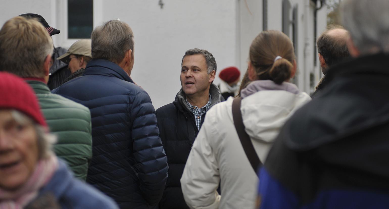 Thomas Zimmermann im Gespräch mit Bürgern